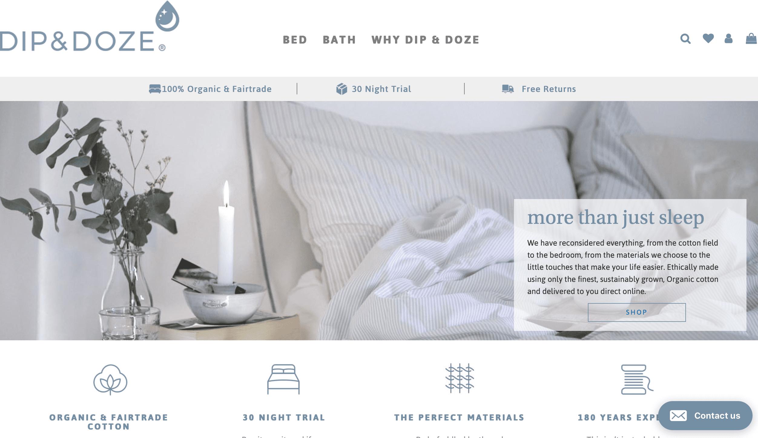 dip & doze website